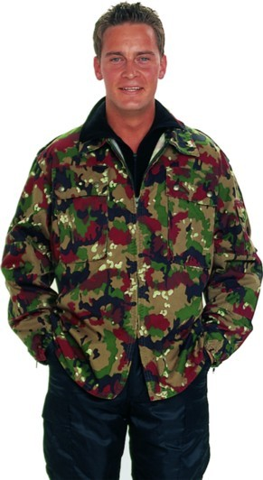 Swiss Camo M83 Field Jacket Used MED