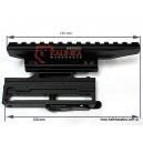 MOLOT SKS/Mosin-Nagant/Mauser/Zastava M76/Yugo M90 Ultima Low Profile Side Mount, Picatinny Rail