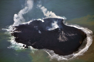 New island created by volcanic eruption in Japan grows 3.7 times