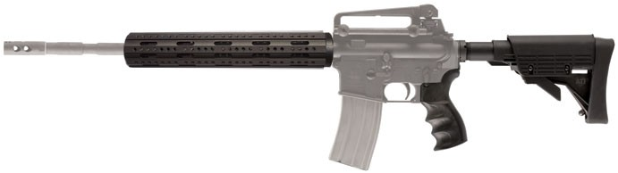 AR-15 Stikeforce Stock Package with Aluminum 8-Sided Free Float Rifle
